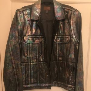 Men's holographic jean jacket